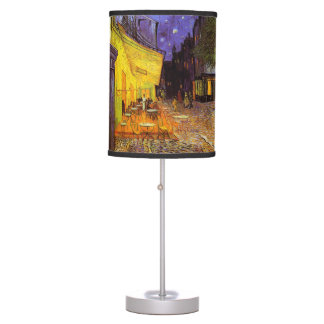 Vincent Van Gogh Cafe Terrace At Night Fine Art Table Lamp