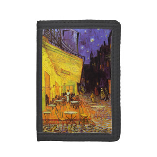 Vincent Van Gogh Cafe Terrace At Night Fine Art Tri-fold Wallet