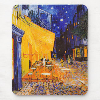 Vincent van Gogh Cafe Terrace at Night Mouse Pad