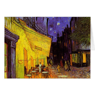 Vincent Van Gogh Cafe Terrace At Night Painting Greeting Card