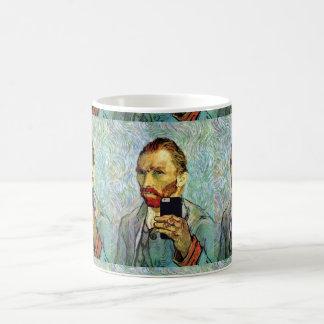 Vincent Van Gogh Cellphone Selfie Self Portrait Coffee Mug