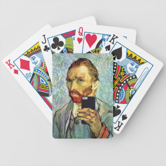 Vincent Van Gogh Cellphone Selfie Self Portrait Bicycle Playing Cards