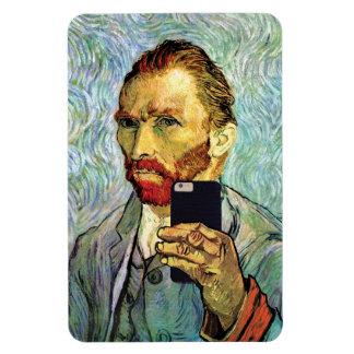 Vincent Van Gogh Cellphone Selfie Self Portrait Rectangular Photo Magnet