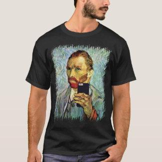 Vincent Van Gogh Cellphone Selfie Self Portrait T-Shirt