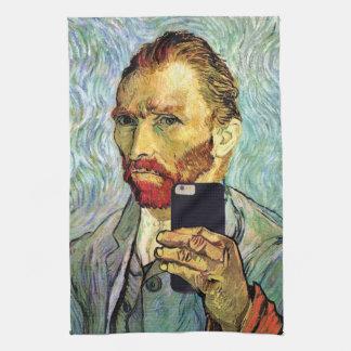 Vincent Van Gogh Cellphone Selfie Self Portrait Towel