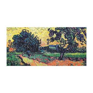 Vincent Van Gogh - Chateau Of Auvers At Sunset Canvas Print