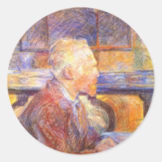 Vincent Van Gogh Classic Round Sticker