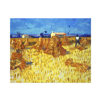Vincent van Gogh Corn Harvest in Provence Canvas Print