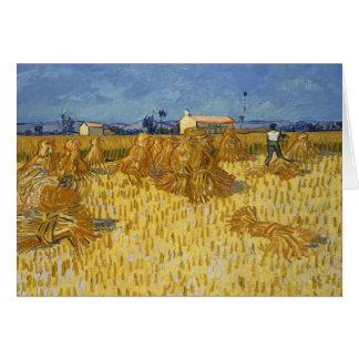 Vincent van Gogh - Corn Harvest in Provence Card