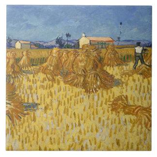 Vincent van Gogh - Corn Harvest in Provence Tile