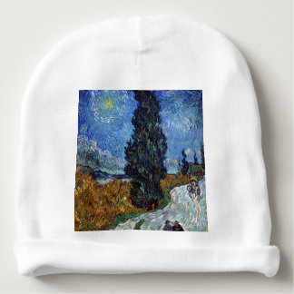 Vincent Van Gogh Country road in Provence by Night Baby Beanie