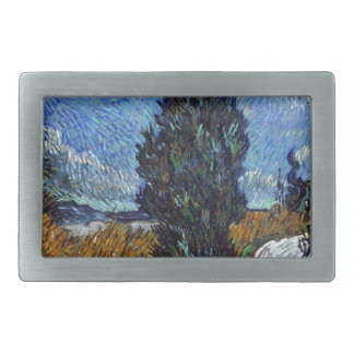 Vincent Van Gogh Country road in Provence by Night Belt Buckle