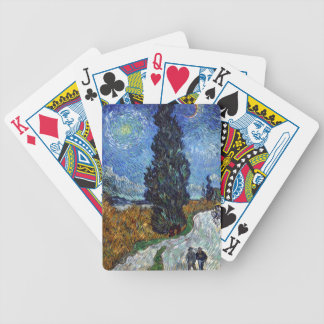 Vincent Van Gogh Country road in Provence by Night Bicycle Playing Cards