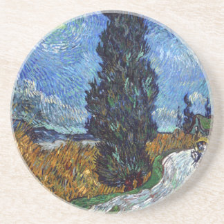 Vincent Van Gogh Country road in Provence by Night Coaster