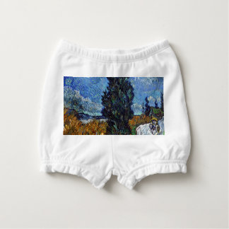 Vincent Van Gogh Country road in Provence by Night Diaper Cover