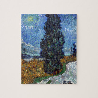 Vincent Van Gogh Country road in Provence by Night Jigsaw Puzzle