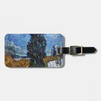 Vincent Van Gogh Country road in Provence by Night Luggage Tag