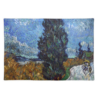 Vincent Van Gogh Country road in Provence by Night Placemat