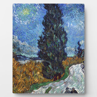 Vincent Van Gogh Country road in Provence by Night Plaque
