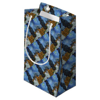 Vincent Van Gogh Country road in Provence by Night Small Gift Bag