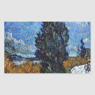 Vincent Van Gogh Country road in Provence by Night Sticker