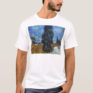 Vincent Van Gogh Country road in Provence by Night T-Shirt