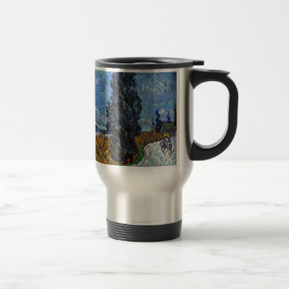 Vincent Van Gogh Country road in Provence by Night Travel Mug