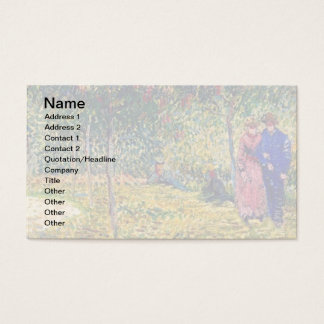 Vincent Van Gogh - Courting Couples In The Park Business Card