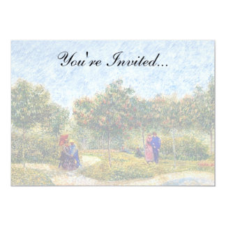 Vincent Van Gogh - Courting Couples In The Park Card