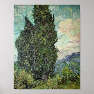 Vincent van Gogh | Cypresses, 1889 Poster