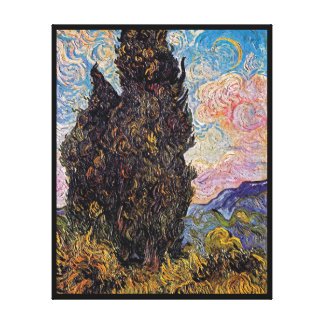 Vincent Van Gogh - Cypresses Fine Art Tree Lover Canvas Print