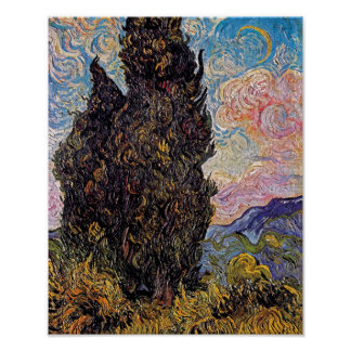 Vincent Van Gogh - Cypresses Fine Art Tree Lover Poster