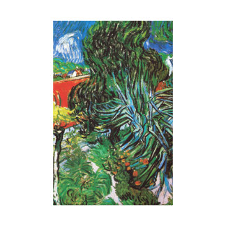 Vincent van Gogh Dr. Gachet's Garden in Auvers Canvas Print