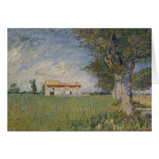 Vincent van Gogh - Farmhouse in a Wheat Field Card