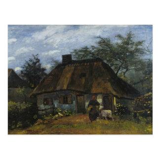 Vincent van Gogh - Farmhouse in Nuenen Postcard
