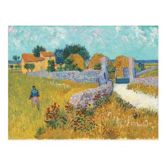 Vincent van Gogh Farmhouse in Provence Landscape Postcard