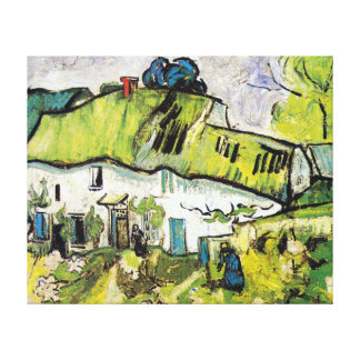 Vincent van Gogh Farmhouse with Two Figures Canvas Print
