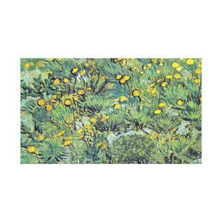 Vincent van Gogh Field of Yellow Flowers Canvas Print