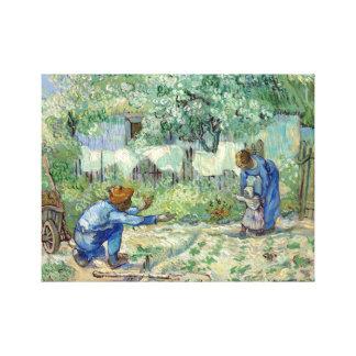 Vincent van Gogh First Steps, after Millet Canvas Print