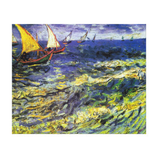 Vincent van Gogh Fishing Boats at Saintes-Maries Canvas Print