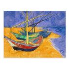 Vincent van Gogh   Fishing Boats on the Beach Postcard