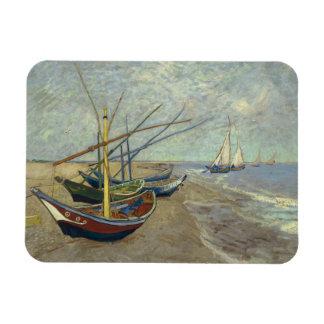 Vincent van Gogh - Fishing Boats on the Beach Rectangular Photo Magnet