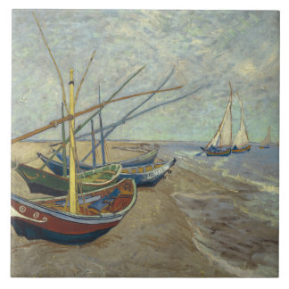 Vincent van Gogh - Fishing Boats on the Beach Tiles