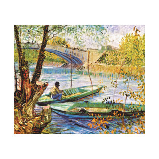 Vincent Van Gogh - Fishing In Spring Fine Art Canvas Print
