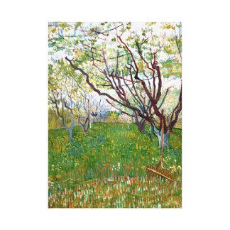 Vincent van Gogh Flowering Orchard Canvas Print