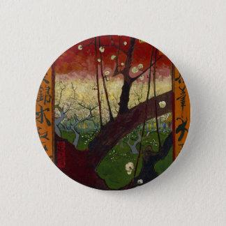 Vincent Van Gogh Flowering Plum Tree Art work 2 Inch Round Button