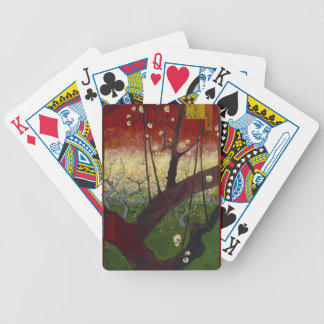 Vincent Van Gogh Flowering Plum Tree Art work Bicycle Playing Cards