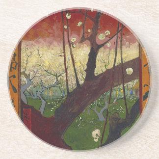 Vincent Van Gogh Flowering Plum Tree Art work Coaster