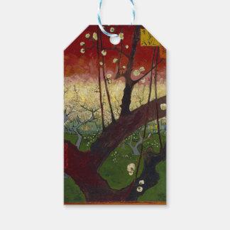 Vincent Van Gogh Flowering Plum Tree Art work Gift Tags