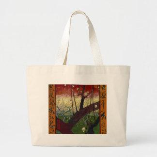 Vincent Van Gogh Flowering Plum Tree Art work Large Tote Bag